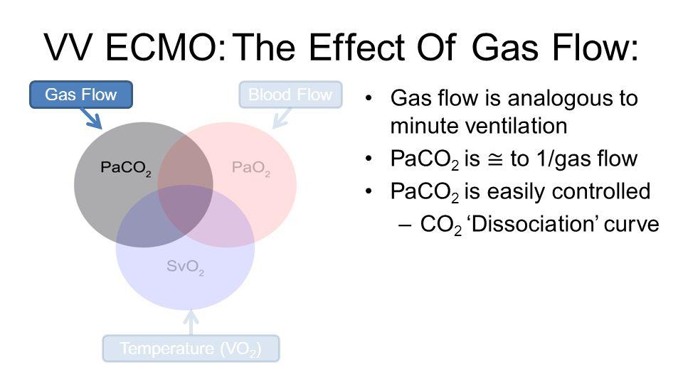 VV ECMO: The Effect Of Gas Flow: