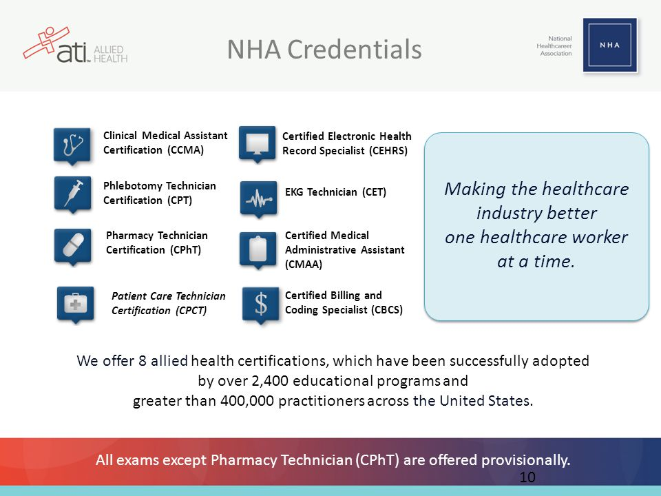NHA Credentials Making the healthcare industry better