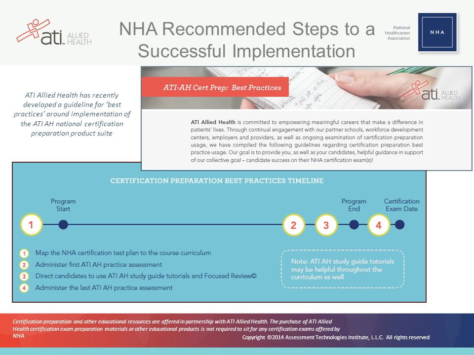 NHA Recommended Steps to a Successful Implementation