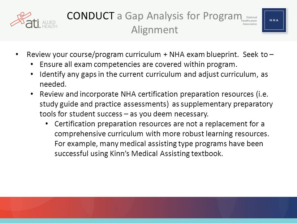 CONDUCT a Gap Analysis for Program Alignment