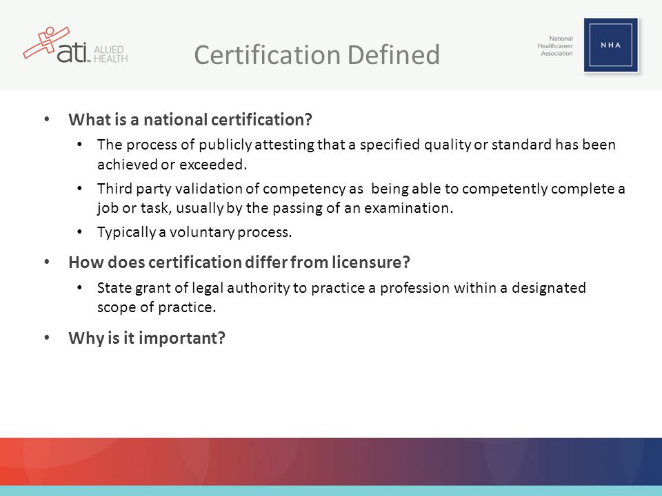 Certification Defined