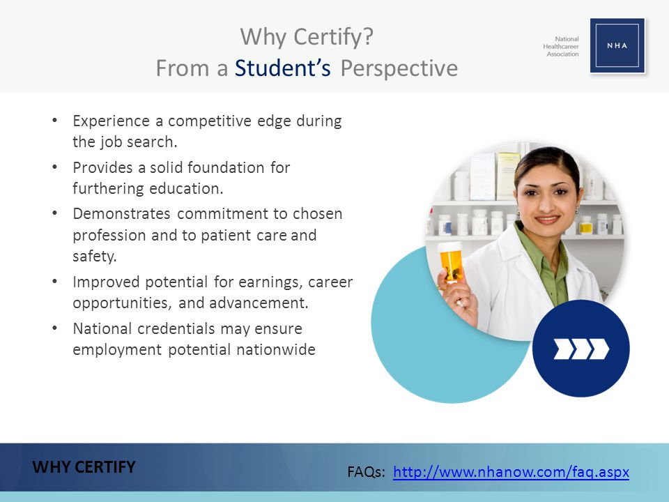 Why Certify From a Student's Perspective