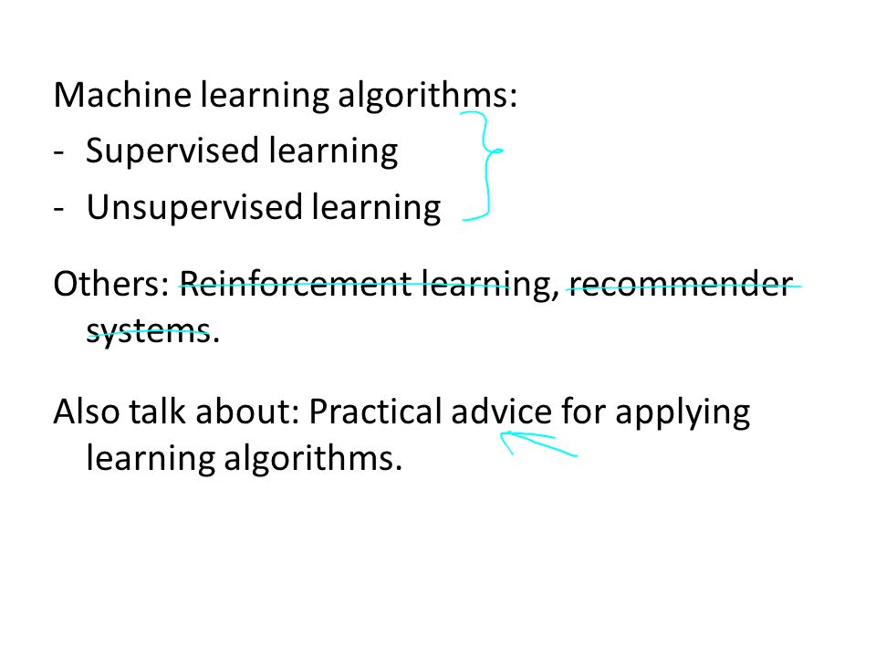 Machine learning algorithms: