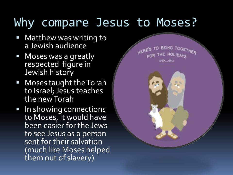 Why compare Jesus to Moses