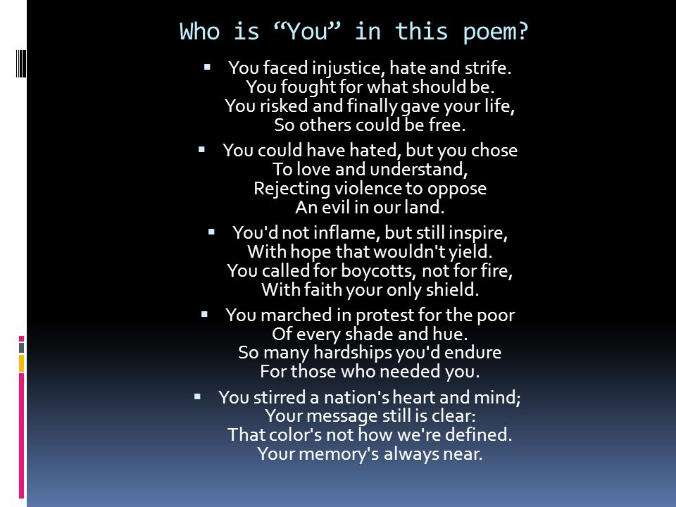 Who is You in this poem