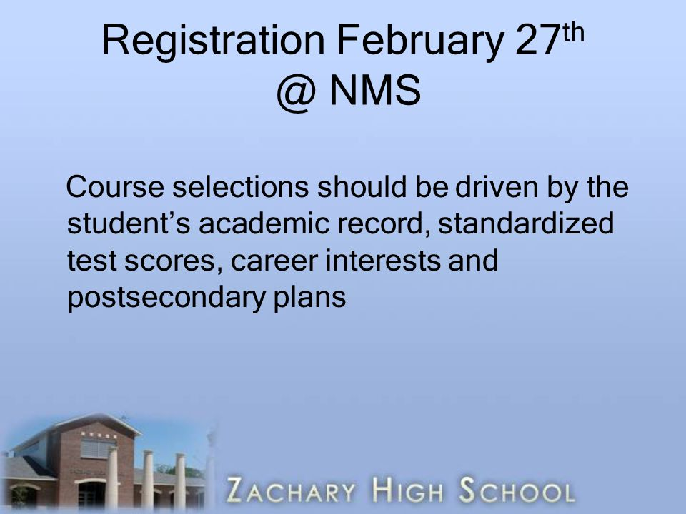 Registration February 27th @ NMS