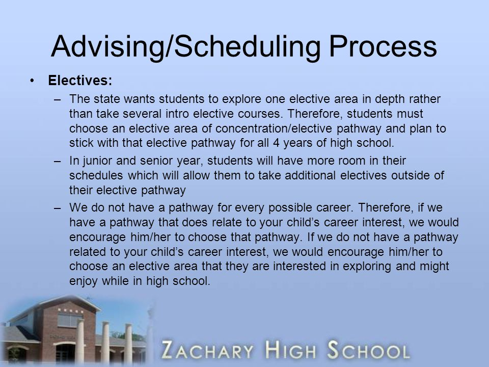 Advising/Scheduling Process