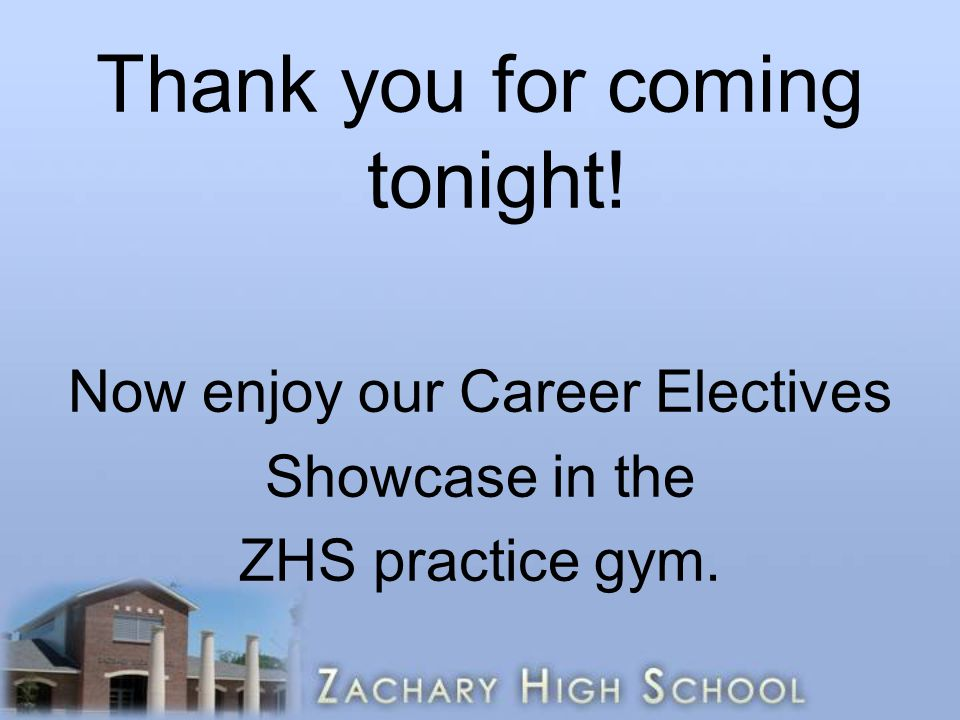 Thank you for coming tonight!