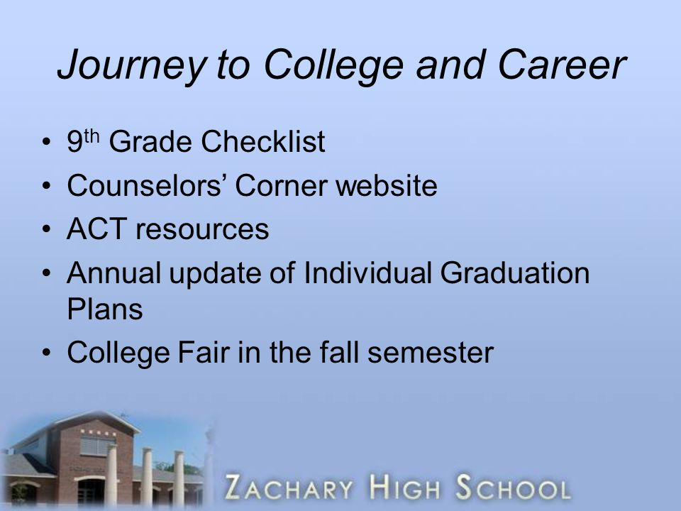 Journey to College and Career