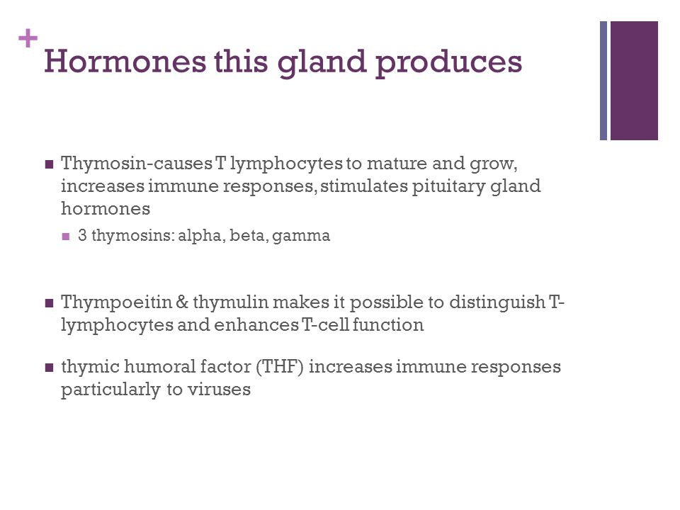 Hormones this gland produces