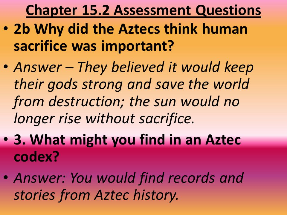 Chapter 15.2 Assessment Questions