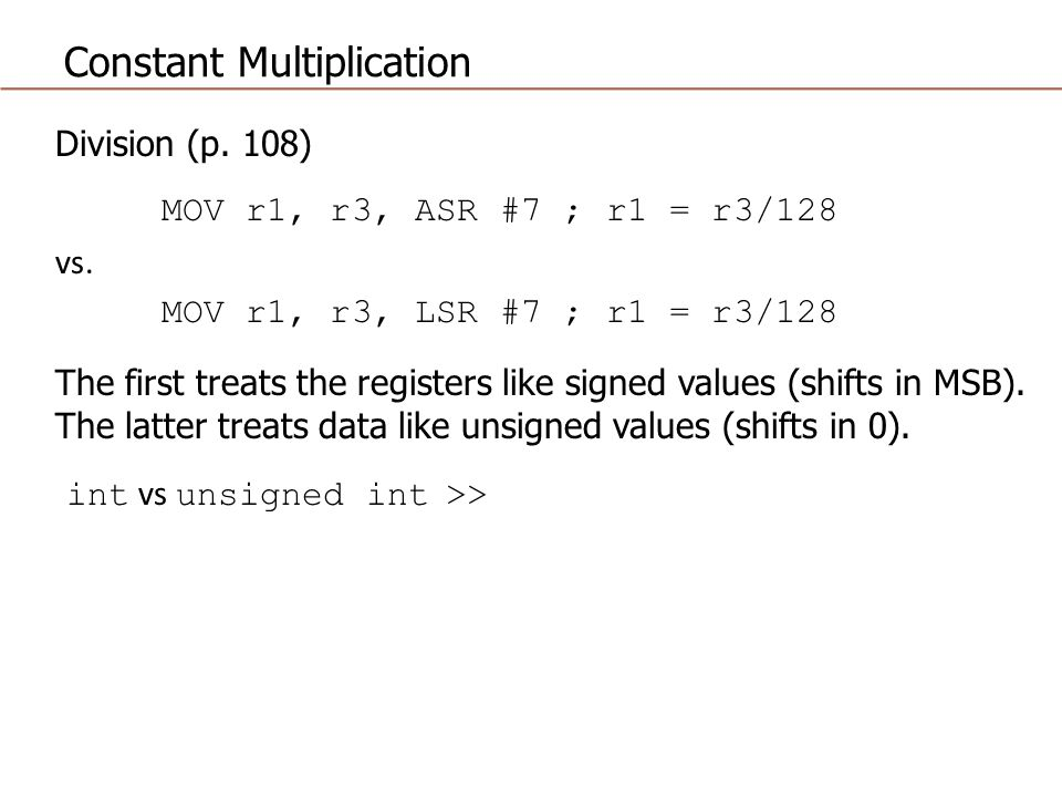 Constant Multiplication