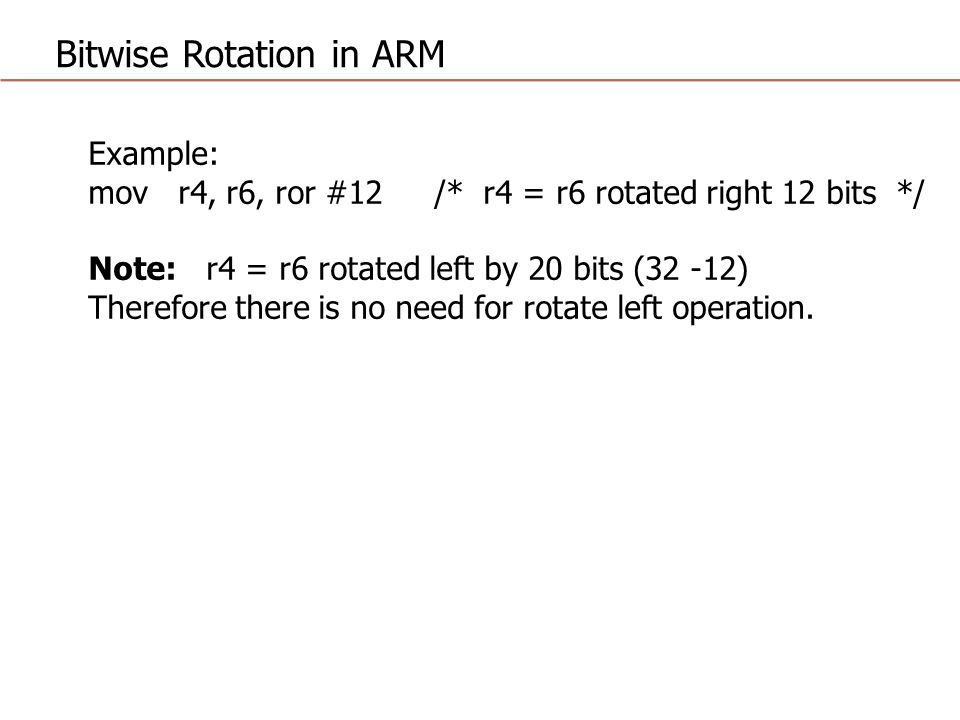 Bitwise Rotation in ARM