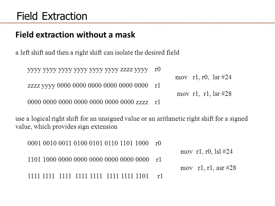Field Extraction Field extraction without a mask