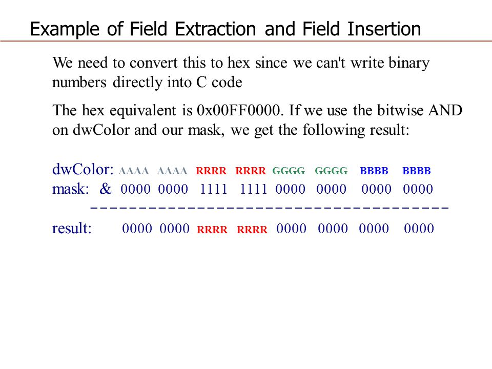 Example of Field Extraction and Field Insertion