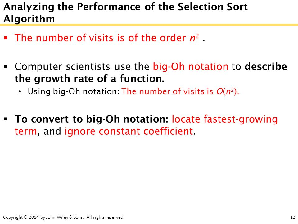 Analyzing the Performance of the Selection Sort Algorithm