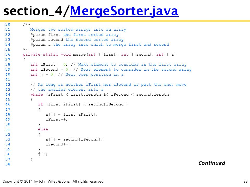 section_4/MergeSorter.java Continued