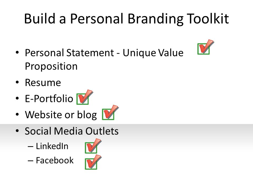 Build a Personal Branding Toolkit