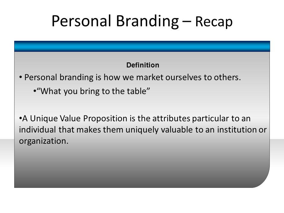 Personal Branding – Recap