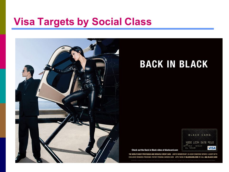 Visa Targets by Social Class