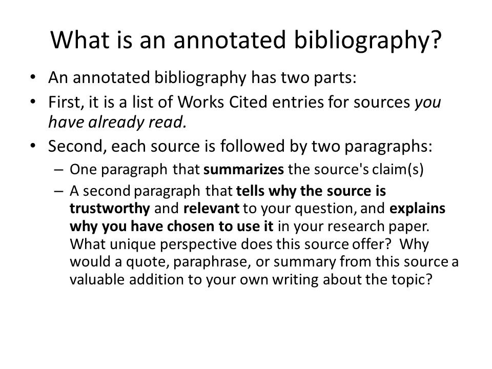 annotated bibliography mla example web