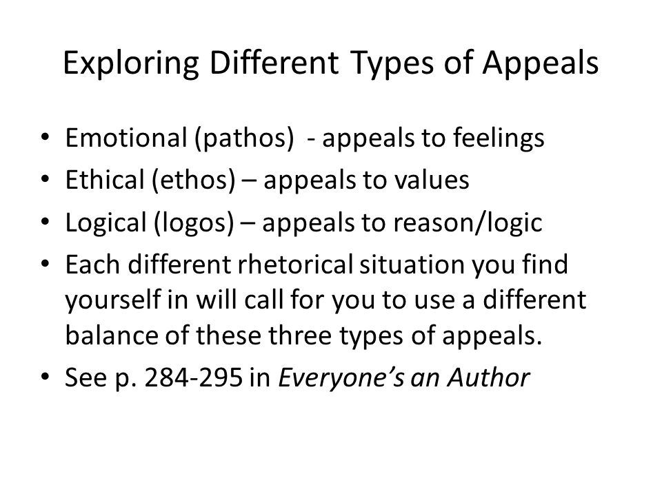 Exploring Different Types of Appeals