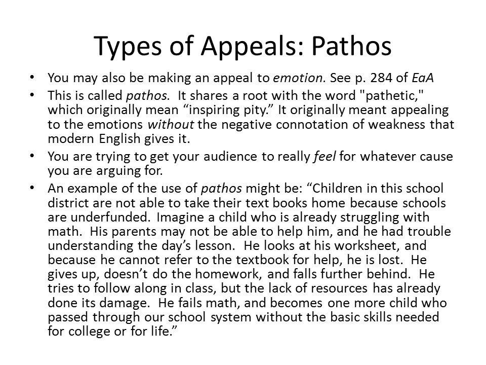 Types of Appeals: Pathos
