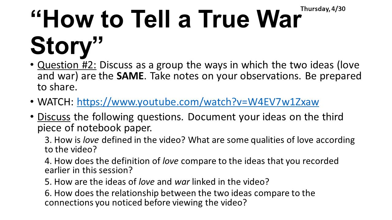 commentary how to tell true war Art has often served as propaganda or social commentary  such as world war ii efforts to get  where sequences of panels were used to tell stories from the.