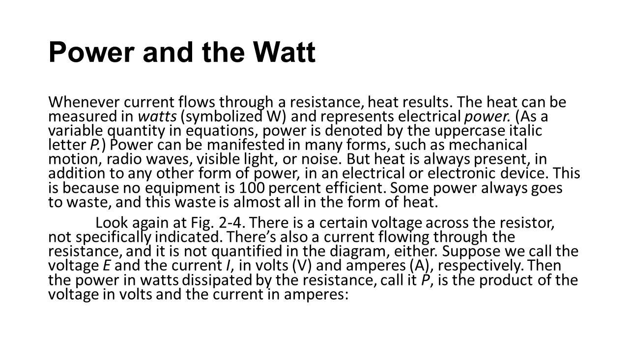 Power and the Watt