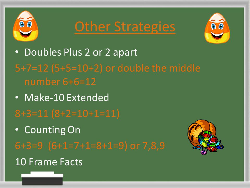 Other Strategies Doubles Plus 2 or 2 apart