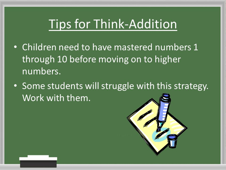 Tips for Think-Addition
