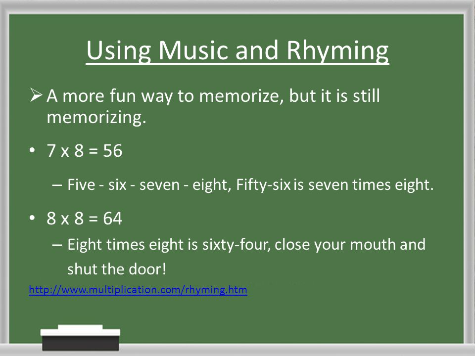 Using Music and Rhyming