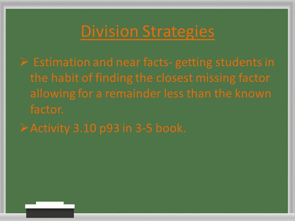 Division Strategies