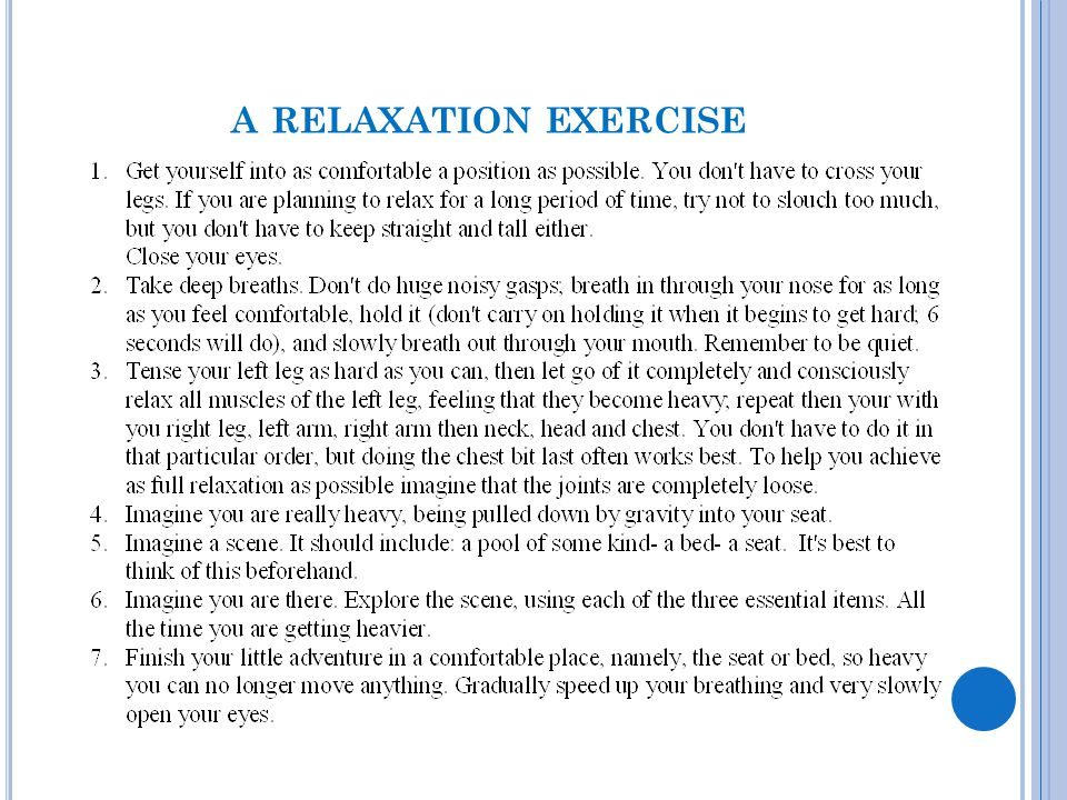 a relaxation exercise