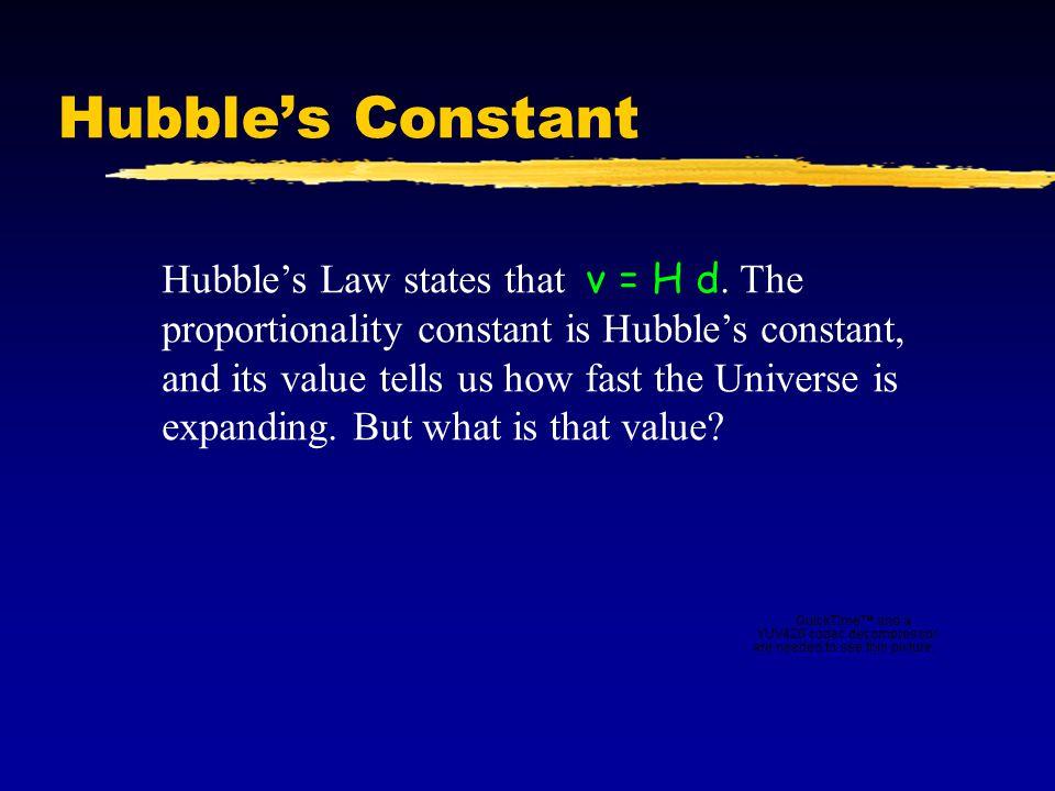 Hubble's Constant