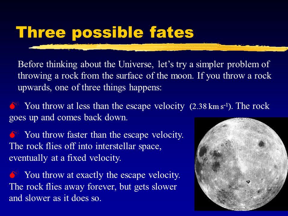 Three possible fates