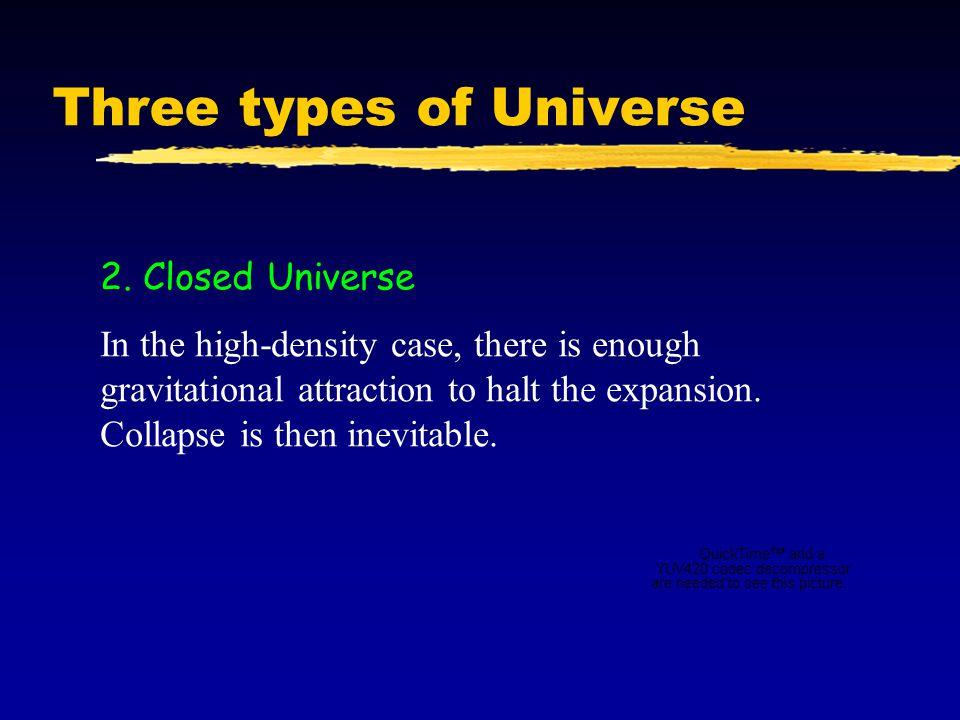 Three types of Universe