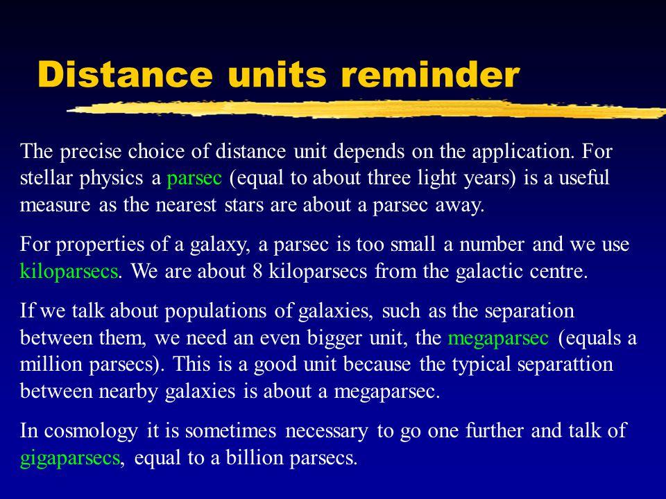 Distance units reminder