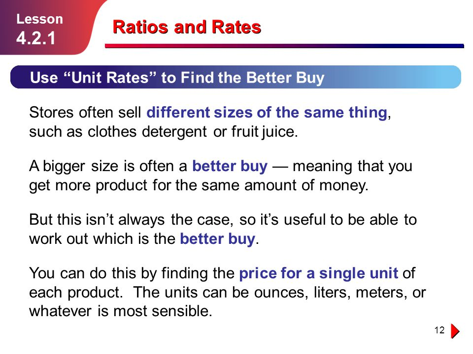 Ratios and Rates Lesson ppt download