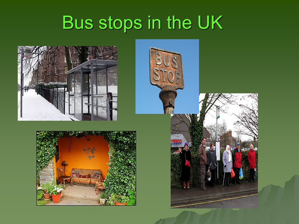Bus stops in the UK