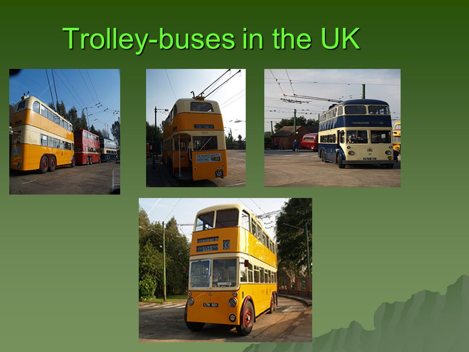 Trolley-buses in the UK