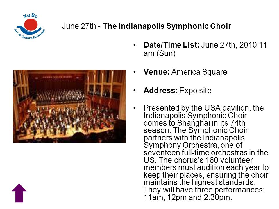 June 27th - The Indianapolis Symphonic Choir