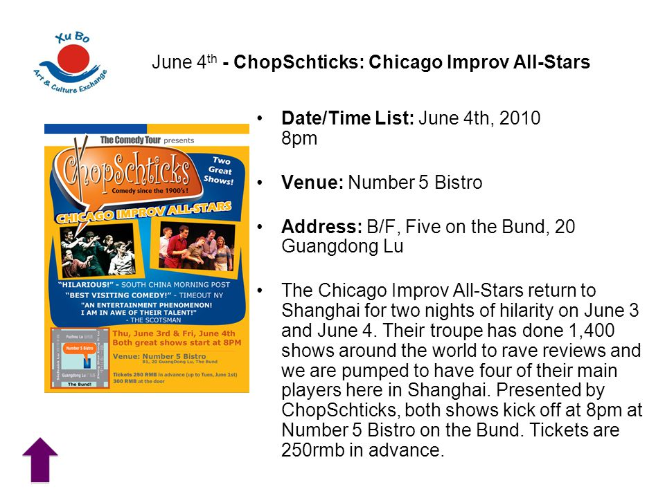 June 4th - ChopSchticks: Chicago Improv All-Stars