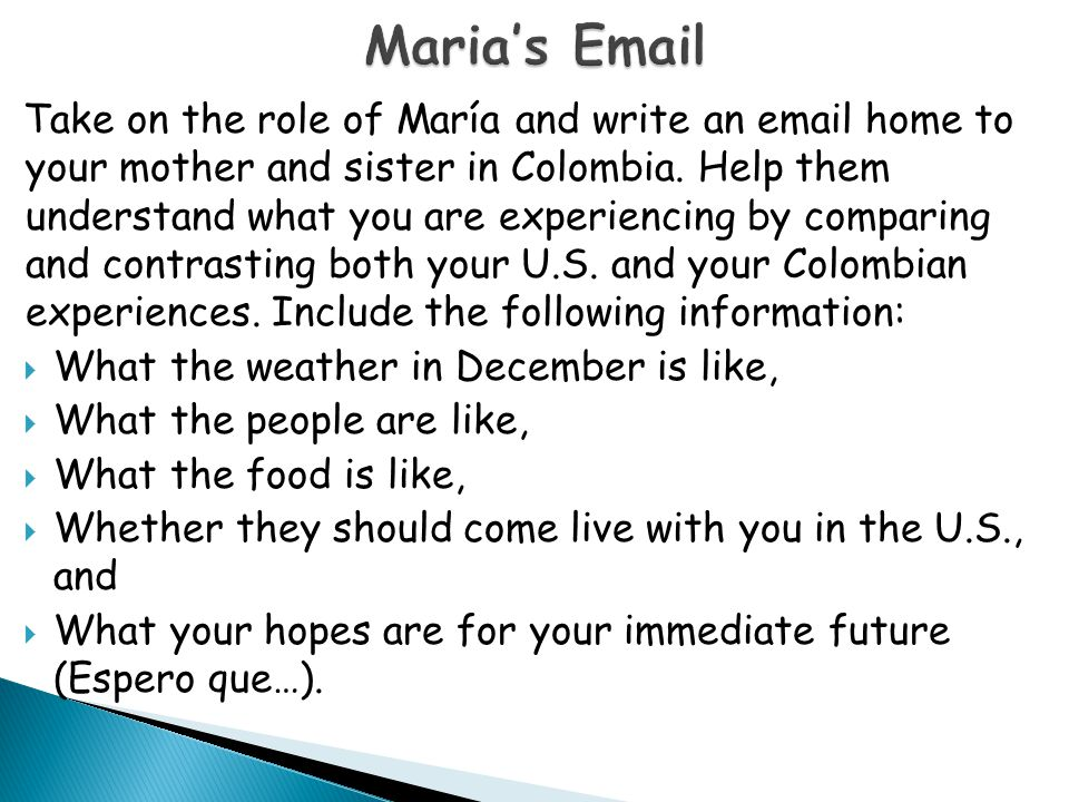 Maria's Email