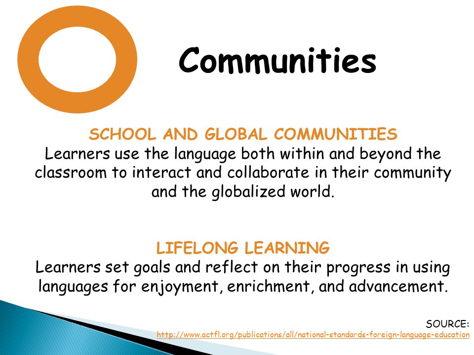 SCHOOL AND GLOBAL COMMUNITIES