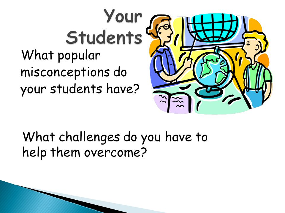 Your Students What popular misconceptions do your students have