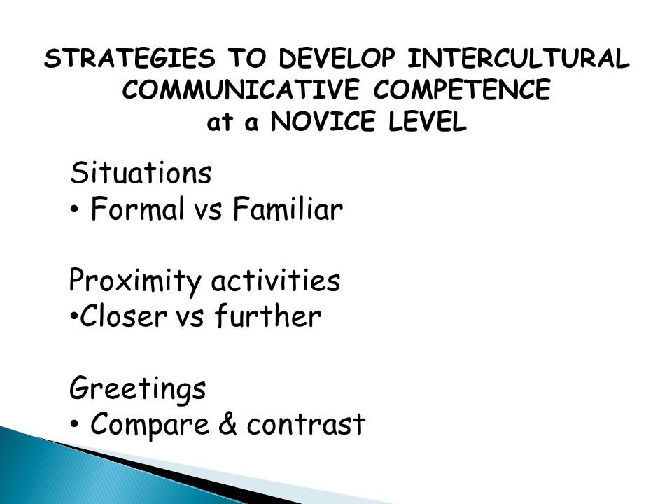 STRATEGIES TO DEVELOP INTERCULTURAL COMMUNICATIVE COMPETENCE