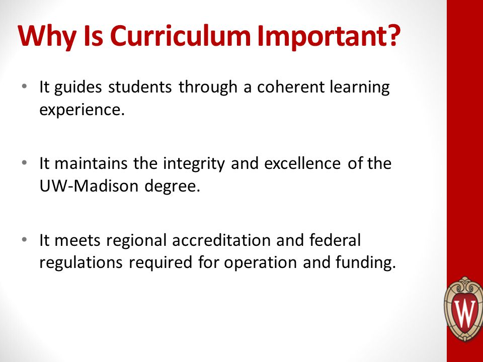 Why Is Curriculum Important