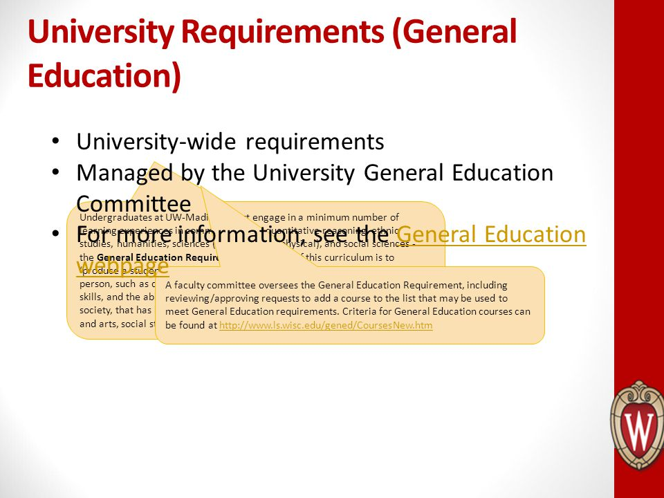 University Requirements (General Education)