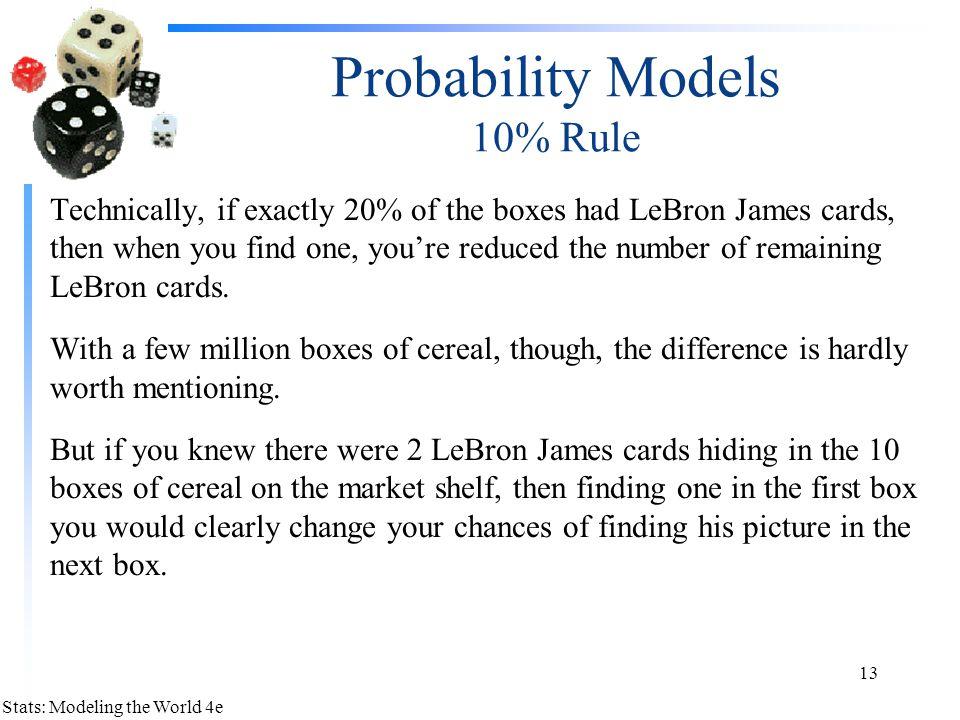 Probability Models 10% Rule